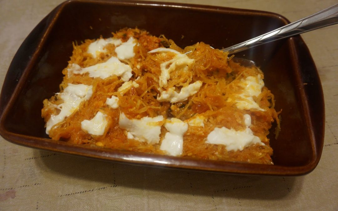 Spaghetti Squash Bake with Fresh Mozarella