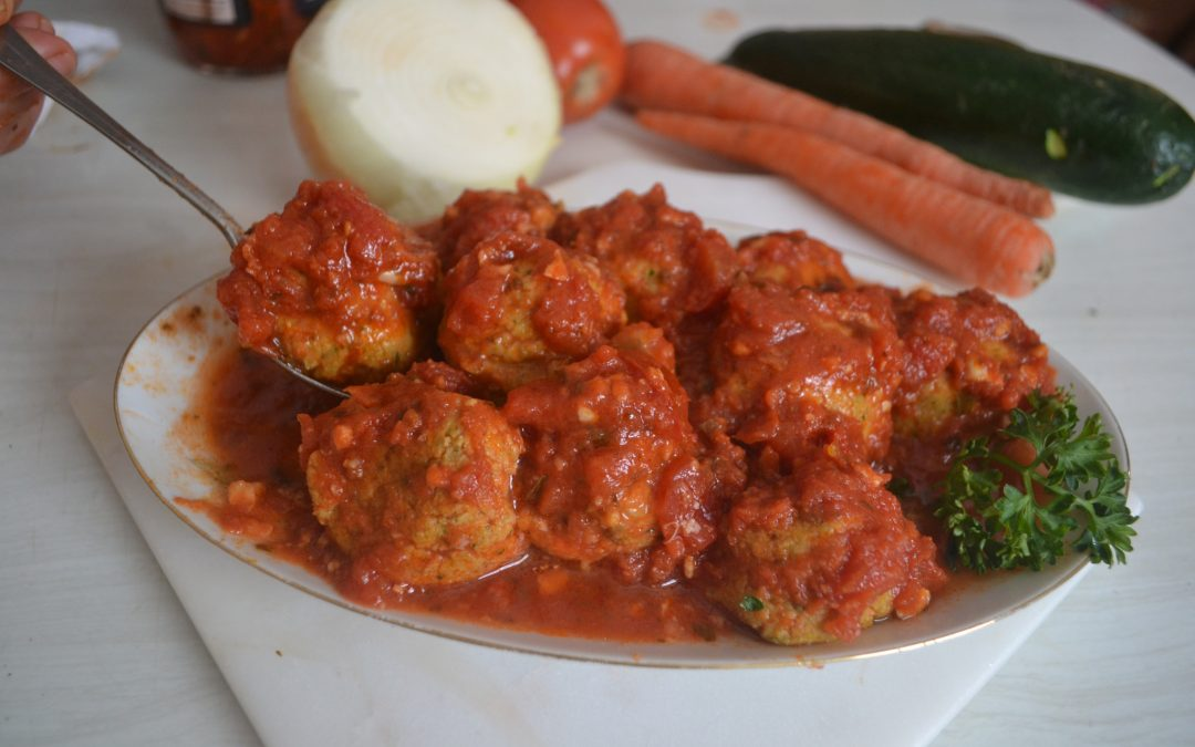 Tuna Meatballs in Marinara Sauce