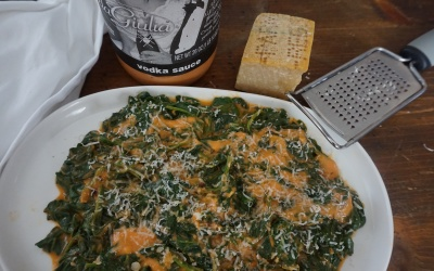 Vodka Creamed Spinach